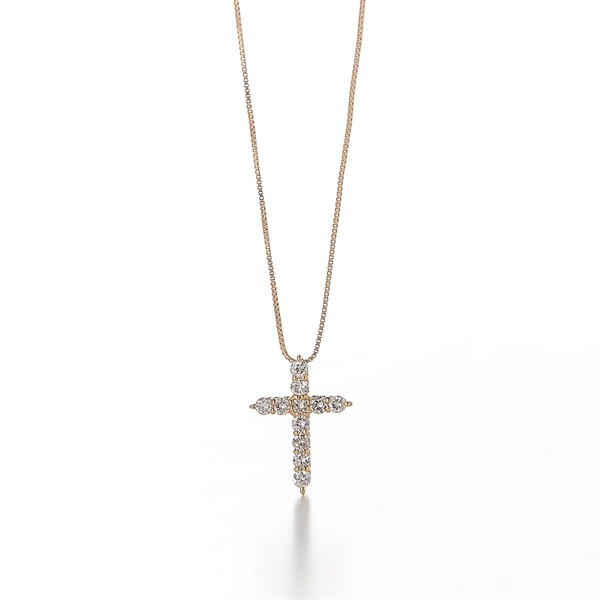 Cross Necklace(PLATINUM-One Size)