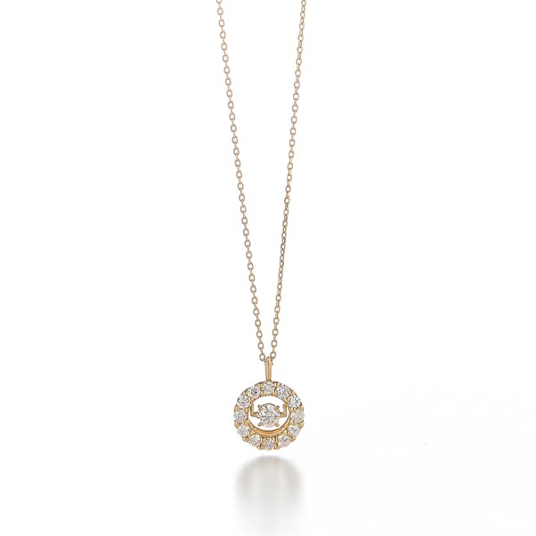 Float DIA Necklace(YELLOWGOLD-One Size)