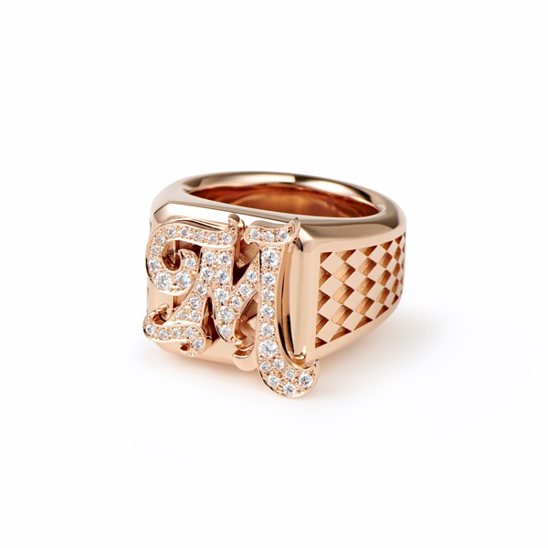 Initial RING / PINKGOLD A-Z