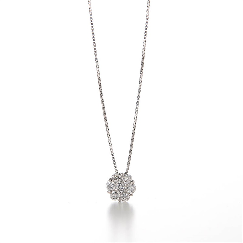 Flower DIA Necklace 0.5 ct