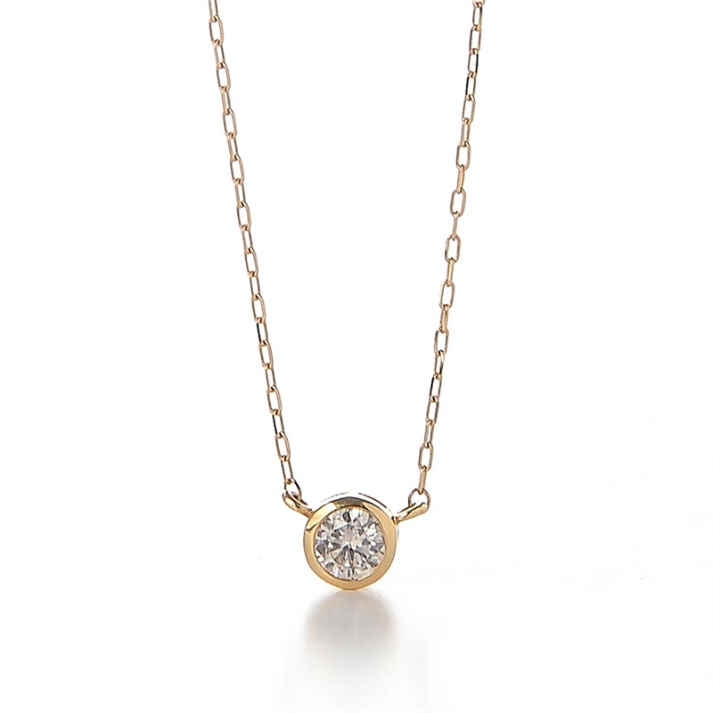 One Point DIA Necklace Circle