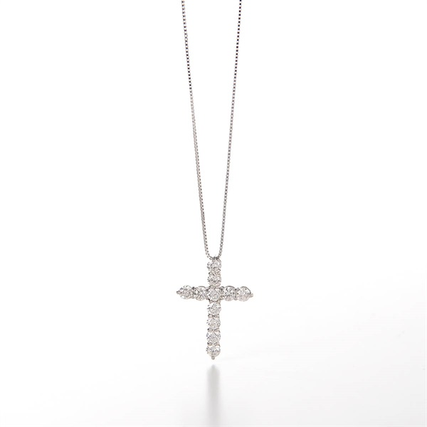 Cross Necklace 1.0 ct